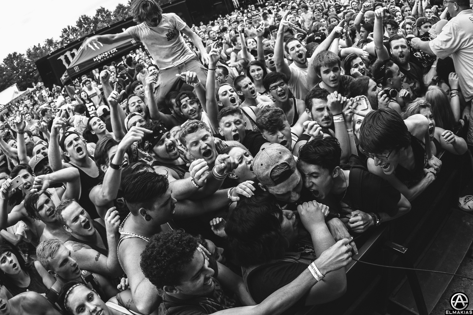 Beartooth fans live at Vans Warped Tour 2015 by Adam Elmakias