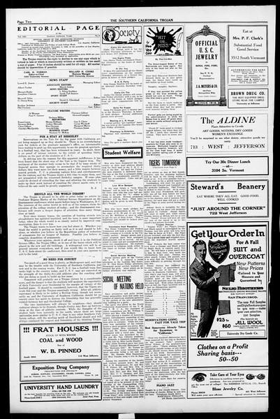 The Southern California Trojan, Vol. 13, No. 9, October 14, 1921