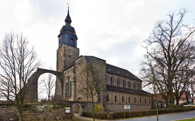 Thalbürgel, ehem. Klosterkirche von Nordosten
