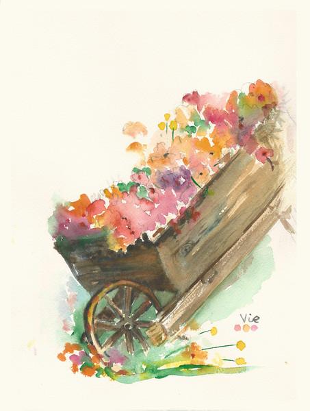 No.263 Une charrette de fleurs.jpg