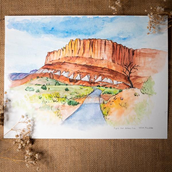 Capitol Reef Watercolor
