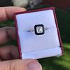 1.19ct Vintage Emerald Cut Diamond Onyx Ring, GIA E VS2 22