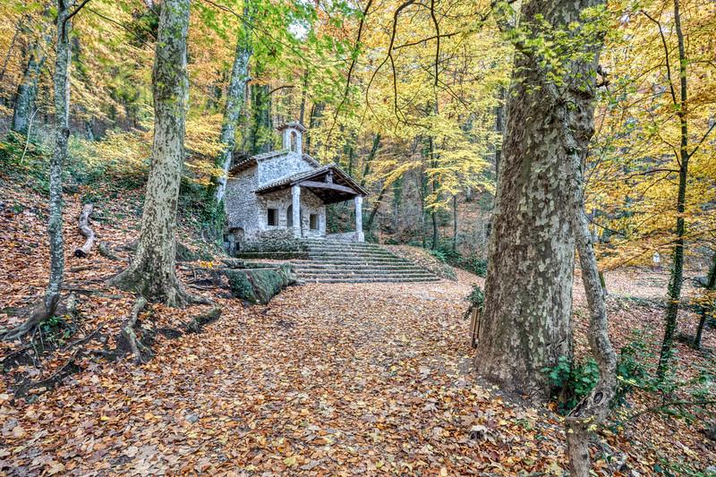Sant Martí del Corb, Autumn Colors (Les Preses, Catalonia)