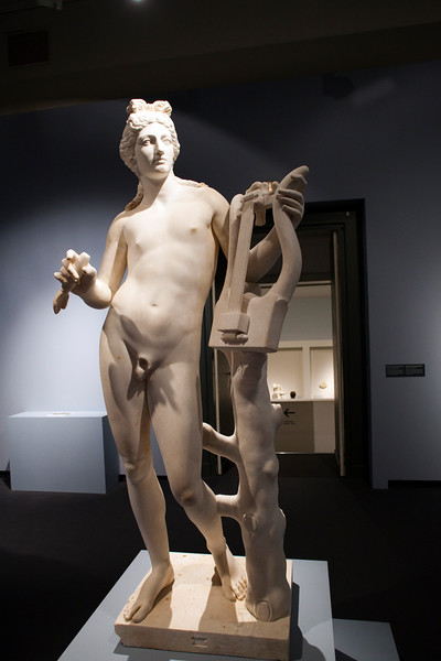 Apollo, Roman sculpture in marble after a Hellenistic model, 2nd century, Pergamon Museum, Berlin, Germany