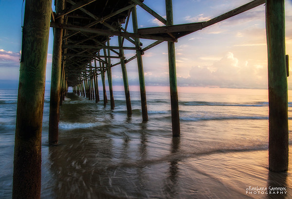 Sunset-Yaupon Beach Fishing Pier-Oak Island, North Carolina
