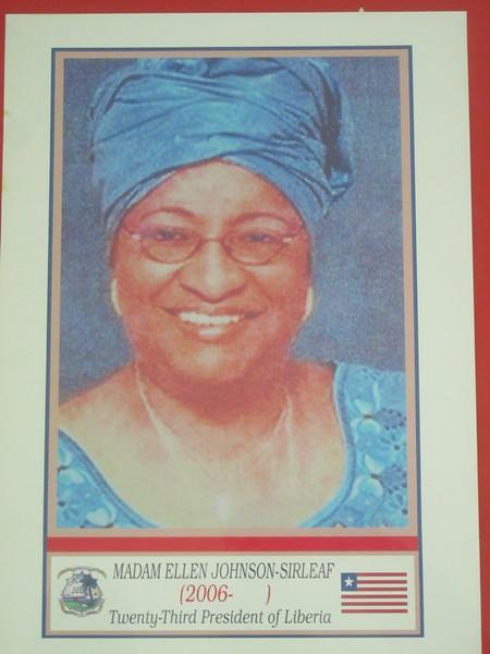 029_Monrovia. The Centennial Building. First Female President.JPG
