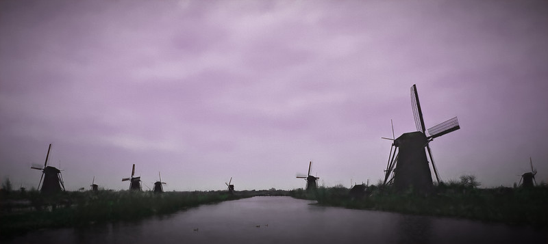 Early Morning Windmills