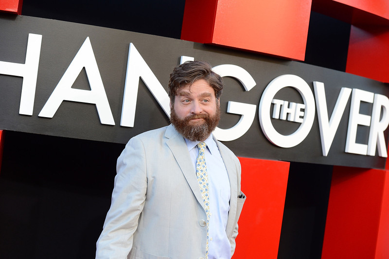 """. Actor Zach Galifianakis attends the premiere of Warner Bros. Pictures\' \""""Hangover Part 3\"""" on May 20, 2013 in Westwood, California.  (Photo by Jason Kempin/Getty Images)"""