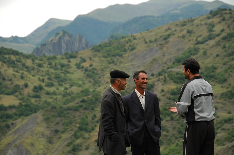Men Chatting - Lahic, Azerbaijan