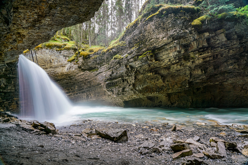Opening at Johnston Creek Falls Upper
