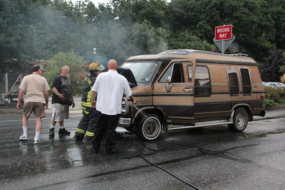Van Fire response, North Railroad St, Tamaqua (7-28-2012)