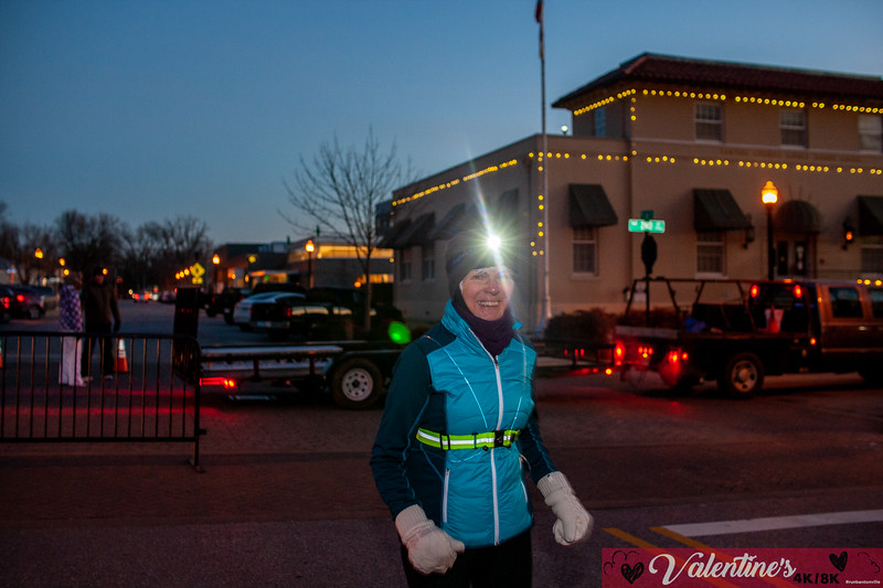 The temps were in the teens out at the Bentonville Square, but that didn't stop runners from bundling up to run the Valentine's 4k/8k race as part of the Run Bentonville Race Series.