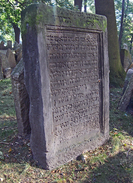 Headstone, Old Jewish cemetery.