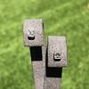 .54ctw Asscher Cut Diamond Bezel Stud Earrings, Platinum 7