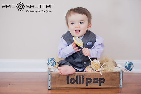 Stanley's 1 year portraits, In-Home Studio Portraits, Outdoor Children's Portraits, Epic Shutter Photography