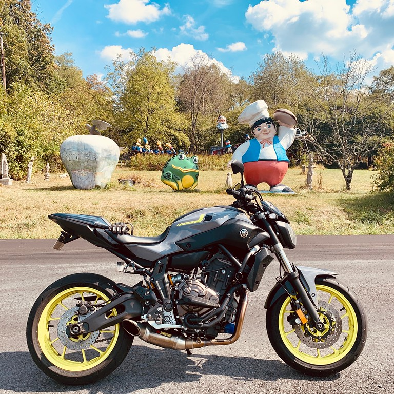 yamaha fz07 at the farnham collosai in west virginia