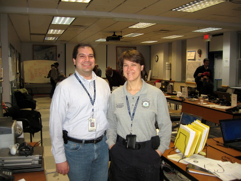 Craig (l) with Assistant Emergency Management Coordinator Ashley Ehrhart