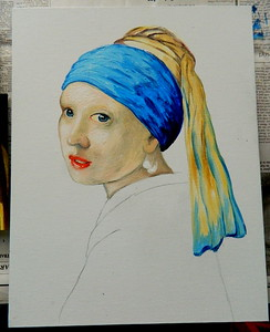 The Making of a Painting - Homage To Vermeer, Girl With A Pearl Earring