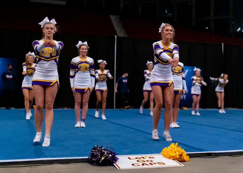 Broughton cheerleading Pre-States. November 16, 2019. D4S_1697