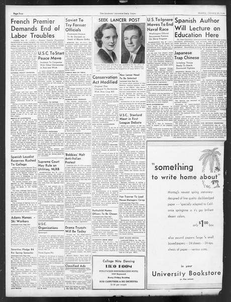 Daily Trojan, Vol. 29, No. 88, February 28, 1938