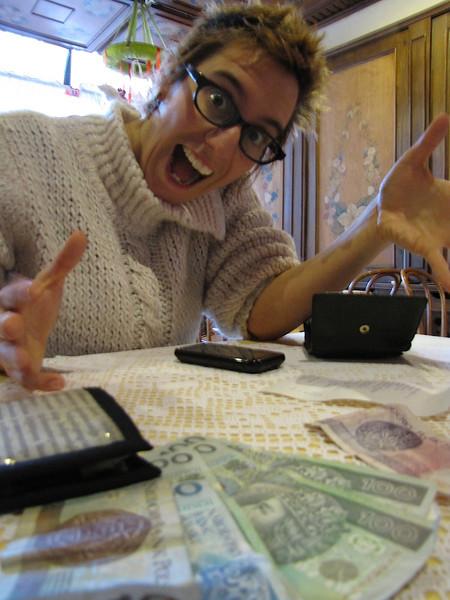 hurrah - we've got Polish money - we could get breakfast!!!