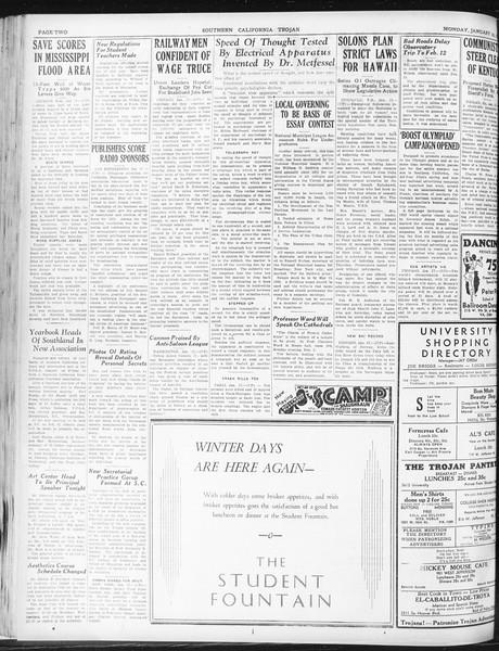 Daily Trojan, Vol. 23, No. 76, January 18, 1932
