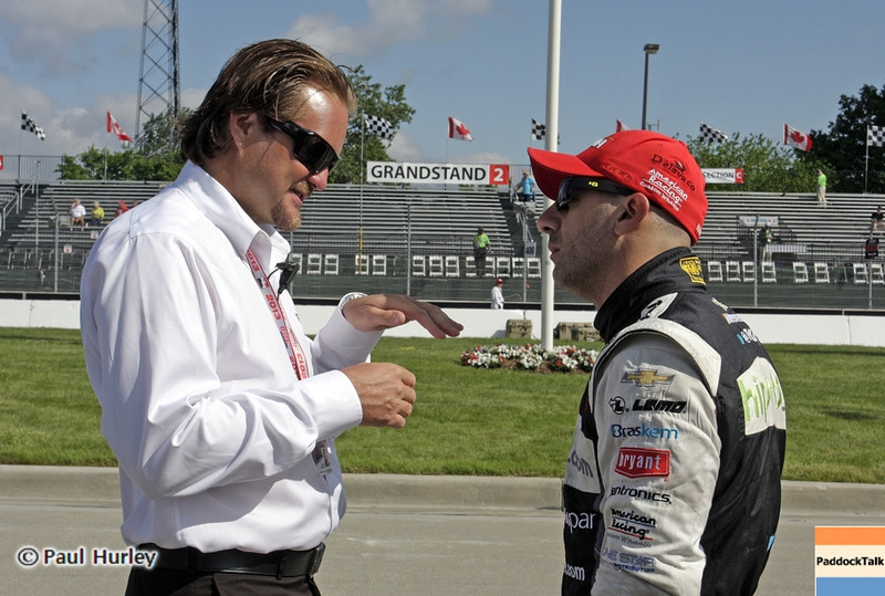 June 2:  Beaux Barfield and Tony Kanaan during the Chevrolet Detroit Belle Isle Grand Prix.