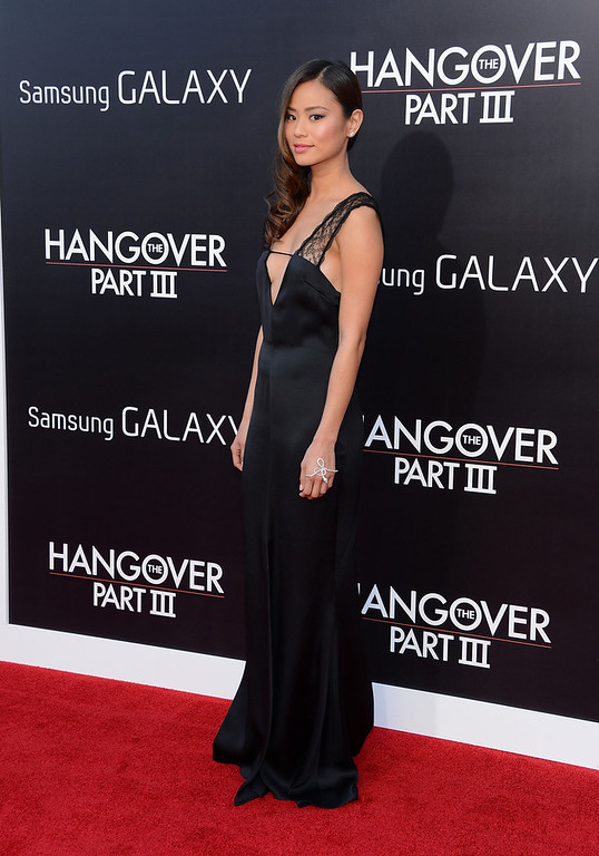 """. Actress Jamie Chung attends the premiere of Warner Bros. Pictures\' \""""Hangover Part 3\"""" on May 20, 2013 in Westwood, California.  (Photo by Jason Kempin/Getty Images)"""