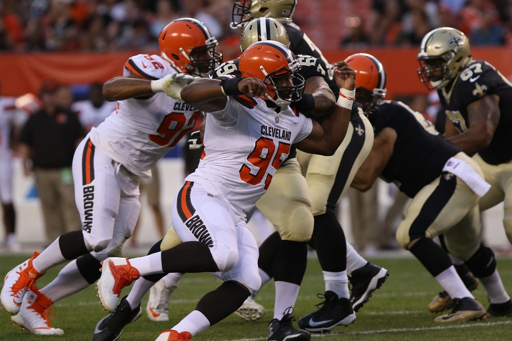 . Tim Phillis - The News-Herald Scenes from the Browns-Saints game on Aug. 10 at FirstEnergy Stadium in Cleveland.