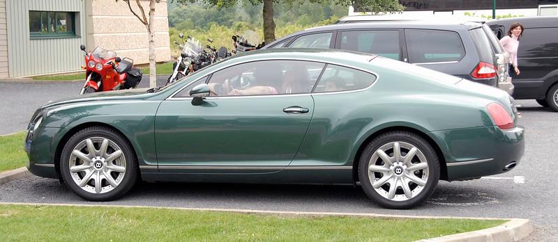 Bentley at Pegasus Bridge, Ranville, Normandy.