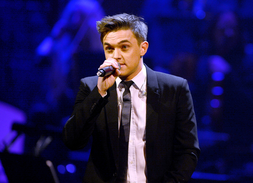 . Singer Jesse McCartney performs onstage during a celebration of Carole King and her music to benefit Paul Newman\'s The Painted Turtle Camp at the Dolby Theatre on December 4, 2012 in Hollywood, California.  (Photo by Michael Buckner/Getty Images for The Painted Turtle Camp)