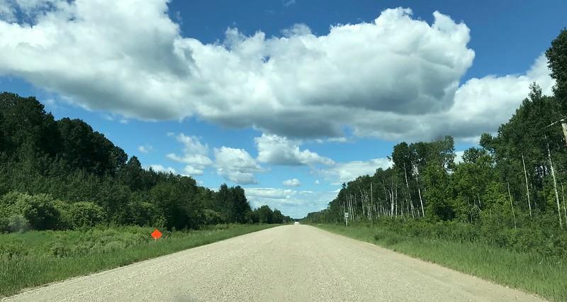 Waze took me along a few gravel roads.
