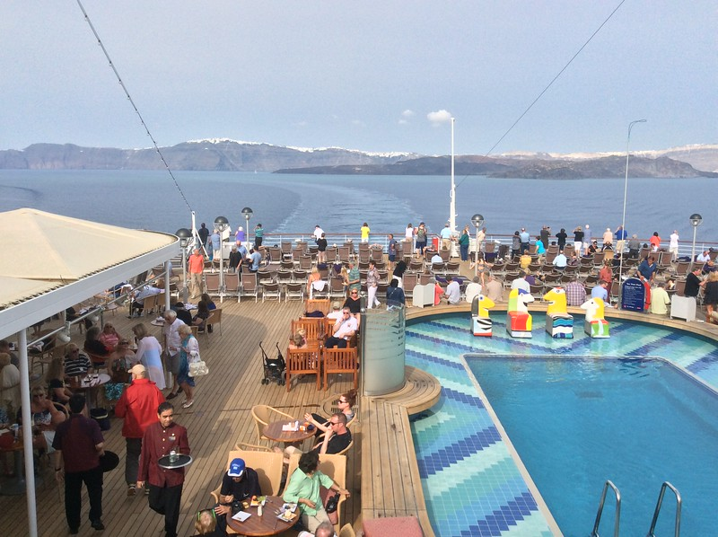 On the deck of Holland America Oosterdam