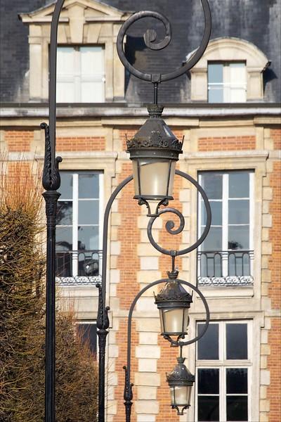 Paris Place des Vosges Lamps