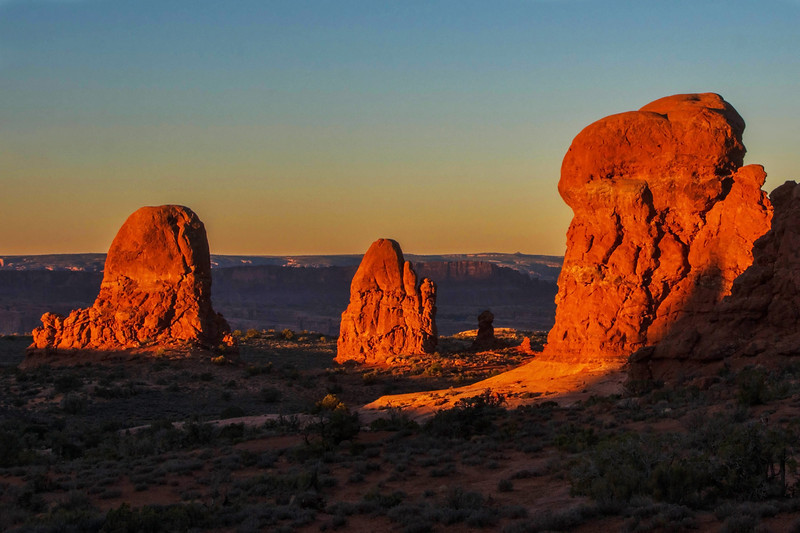 Windows Vista at Arches National Park at dawn