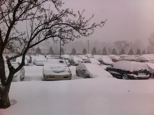 Snowy day in Solon