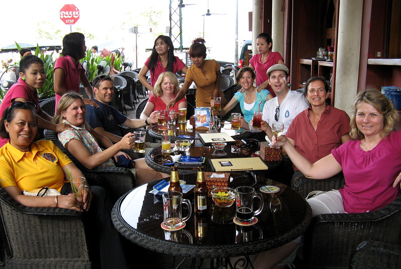 A happy group ends their Classic Cambodia adventure