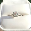 1.13ct Old Mine Cut Halo Ring, GIA M SI1 9