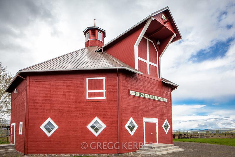 Octagonal Barn at Triple Creek Ranch