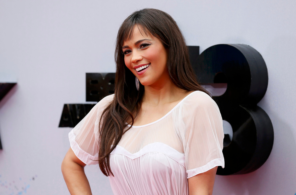 . Actress Paula Patton arrives at the 2013 BET Awards in Los Angeles, California June 30, 2013. REUTERS/Danny Moloshok