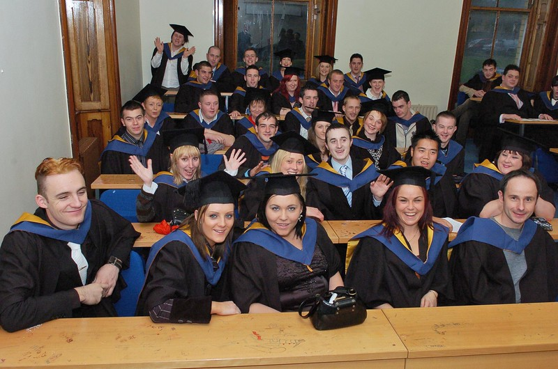 Provision 251006 Failte Ireland National Certificate in Professional Cookery Graduates wait to enter the conferring hall in WIT. PIC Bernie Keating/Provision