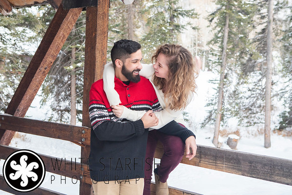 Vail Engagement Photos - Gore Creek Covered Bridge - Sandhu