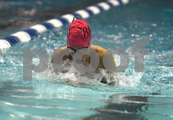 10/24/2017 Mike Orazzi | Staff Bristol Eastern's Brianna Ogonowski during Tuesday's swim meet with Central.
