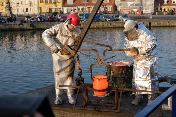 Bronzestøbning på Køge Havn