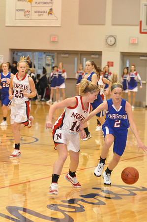 Var Girls Basketball vs Lin Christian 2/14/09