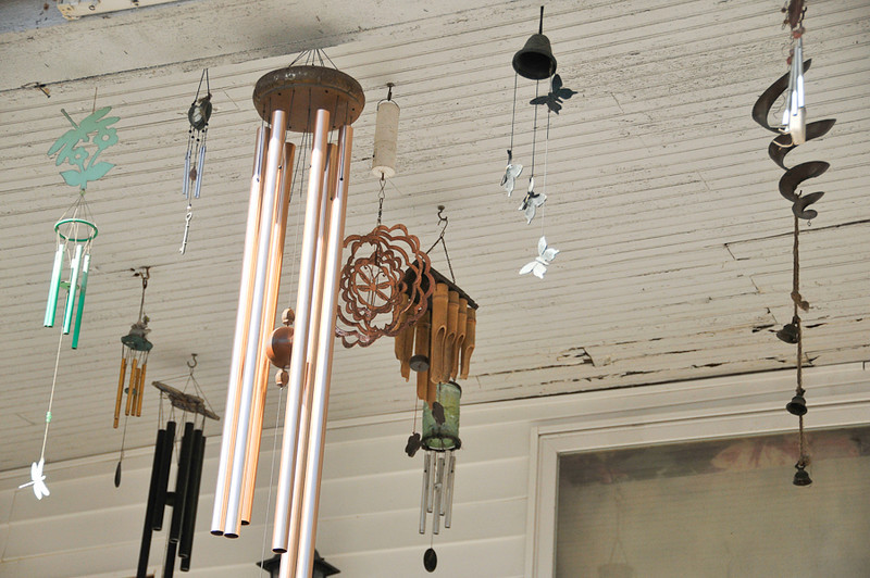 10 09-08 Close up of wind chimes.  mlj