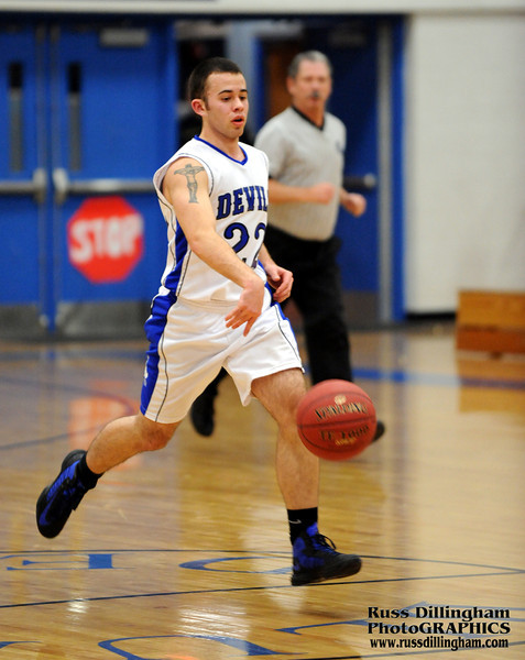 Lewiston defeats Cony in boys basketball game at Lewiston High School on December 18, 2012.