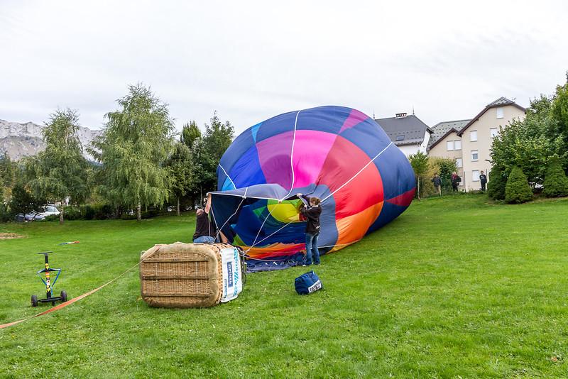 Vol libre de montgolfières, à Villard de Lans
