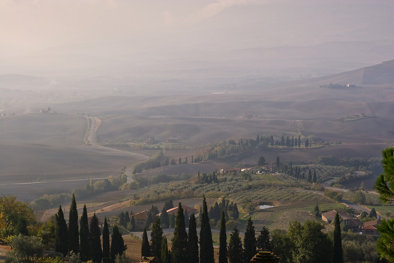 Pienza vista of Tuscany