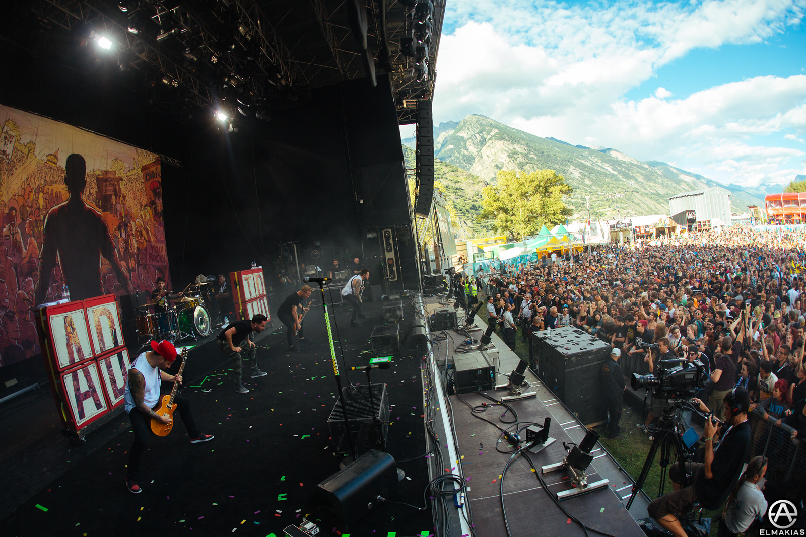 team headbang at Open Air Gampel Festival in Switzerland